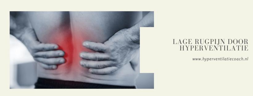 lage rugpijn door hyperventilatie