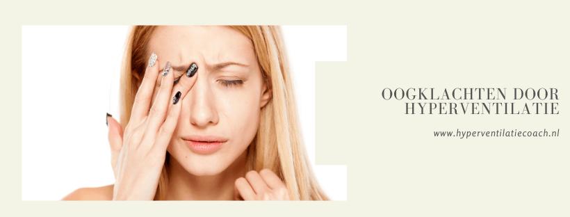 oogklachten door stress en hyperventilatie